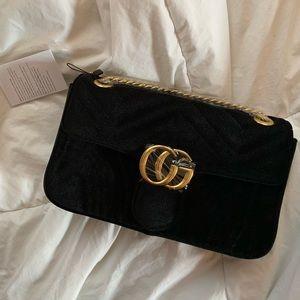 Handbags - velvet faux gucci purse